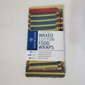 Trader Joe's Waxed Cotton Food Wraps. 3 pk